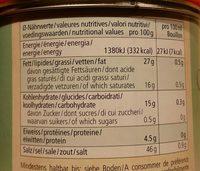 Bouillon Vegetal Legume Pate SG 400G - Informations nutritionnelles - fr