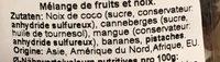 Muntermacher stimulant - Ingrédients - fr