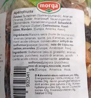 Apérofruits - Ingrédients - fr