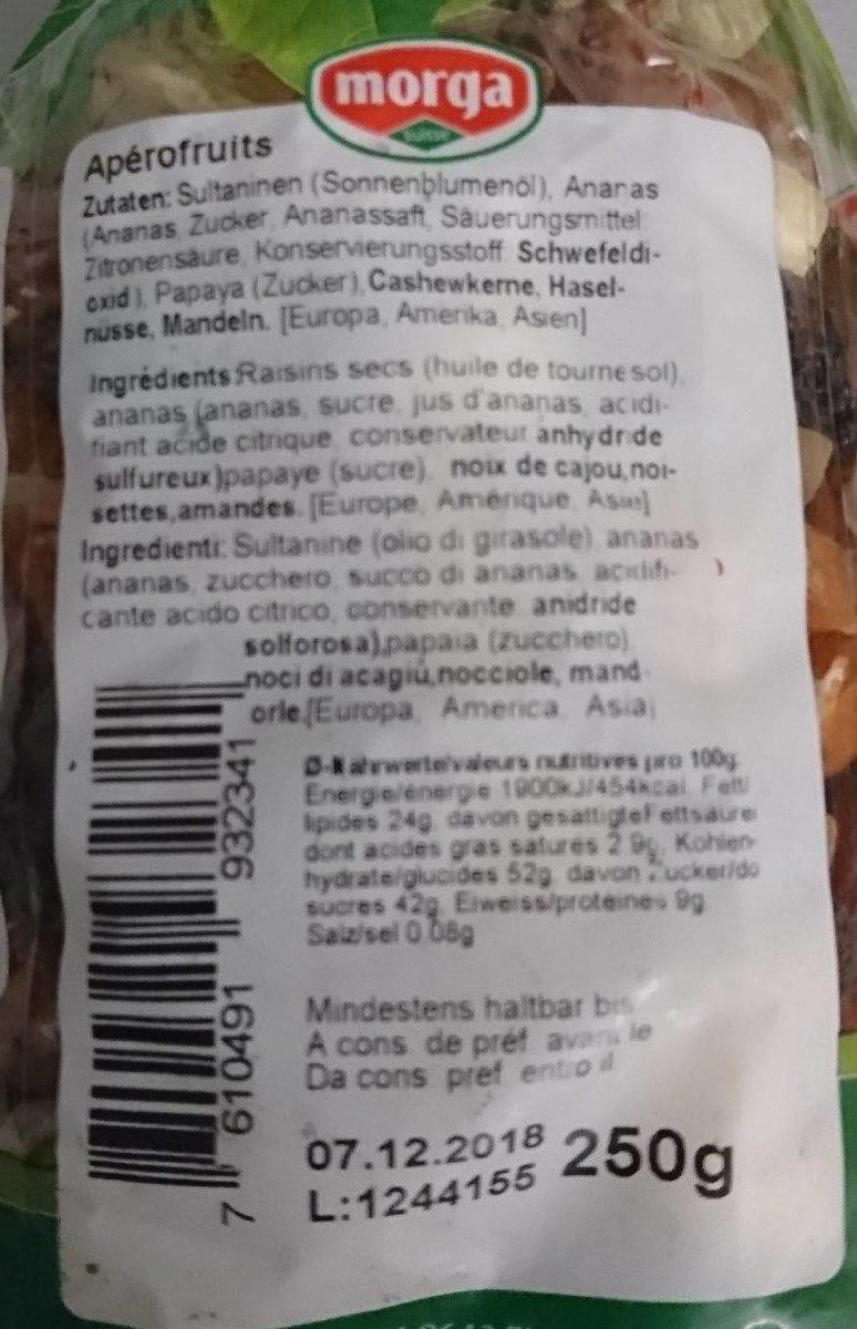 Apérofruits - Informations nutritionnelles - fr