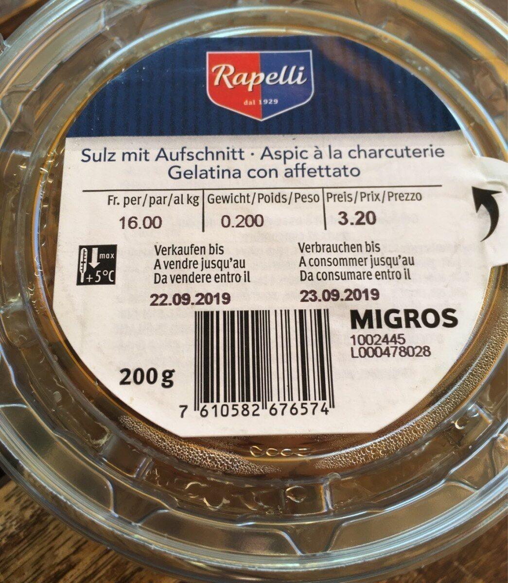 Aspic a la charcuterie - Product - fr