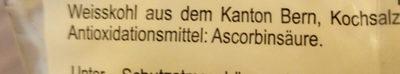 Berner Sauerkraut Roh - Ingredienti - de