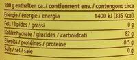 Vetliner Berghonig - Informations nutritionnelles - fr