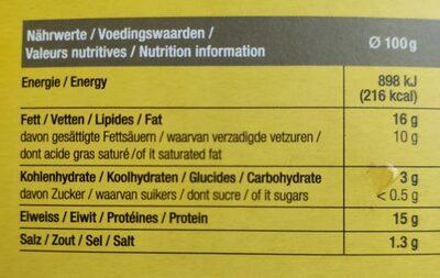 Fondue Matterhorn - Informations nutritionnelles - de