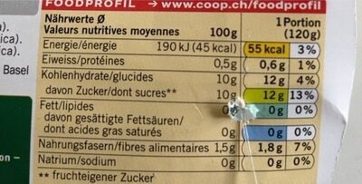 Bio Ananas - Valori nutrizionali - fr