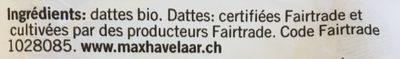 Dattes bio - 成分 - fr