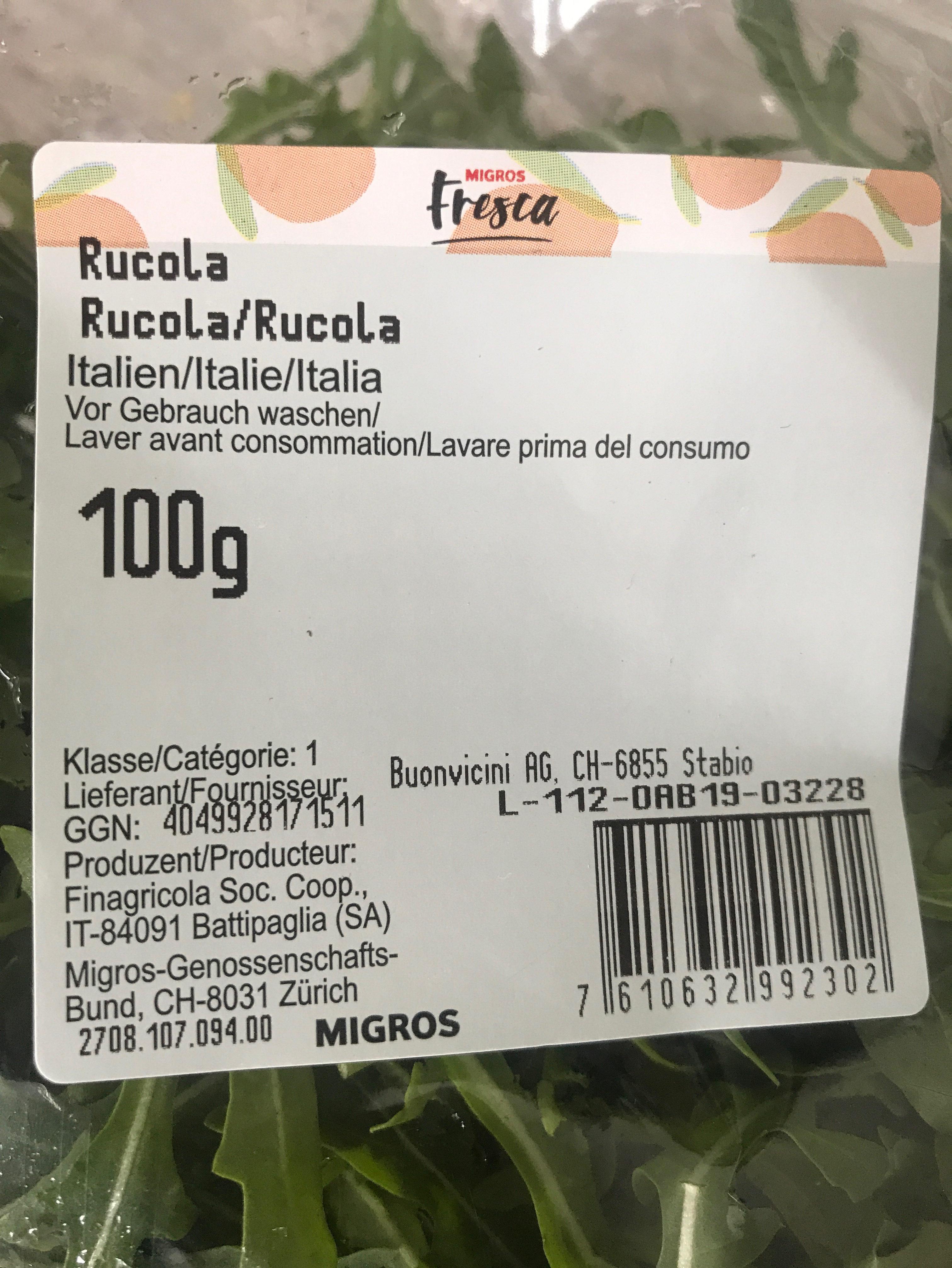 Rucola - Ingrediënten