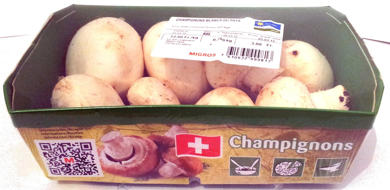 Champignons blancs du pays - Produit