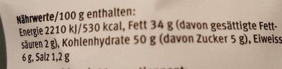 Härdöpfel Chips - Nutrition facts - fr