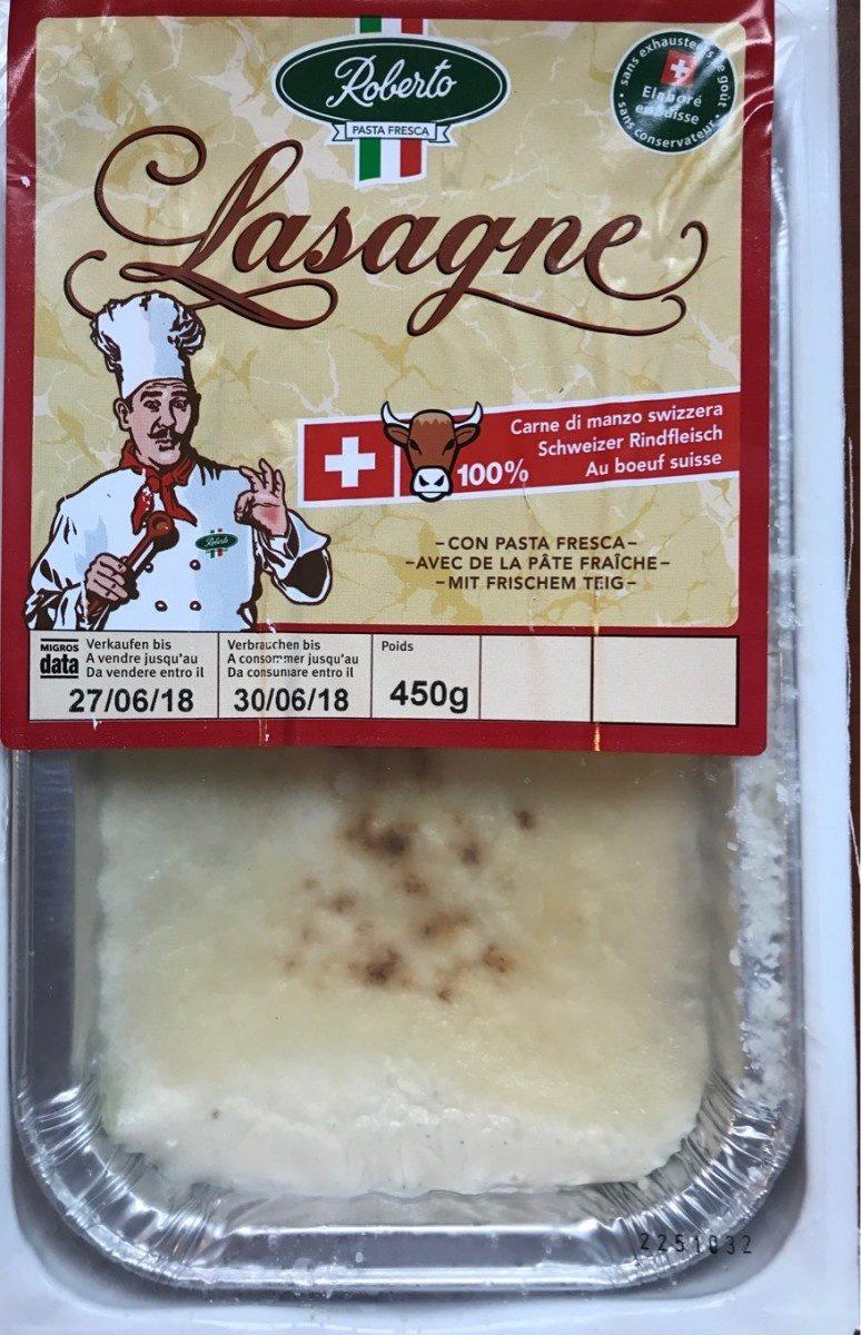 Lasagne frais aux boeuf CH - Produit - fr