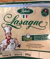 Lasagne frais épinards et ricotta - Produkt - fr