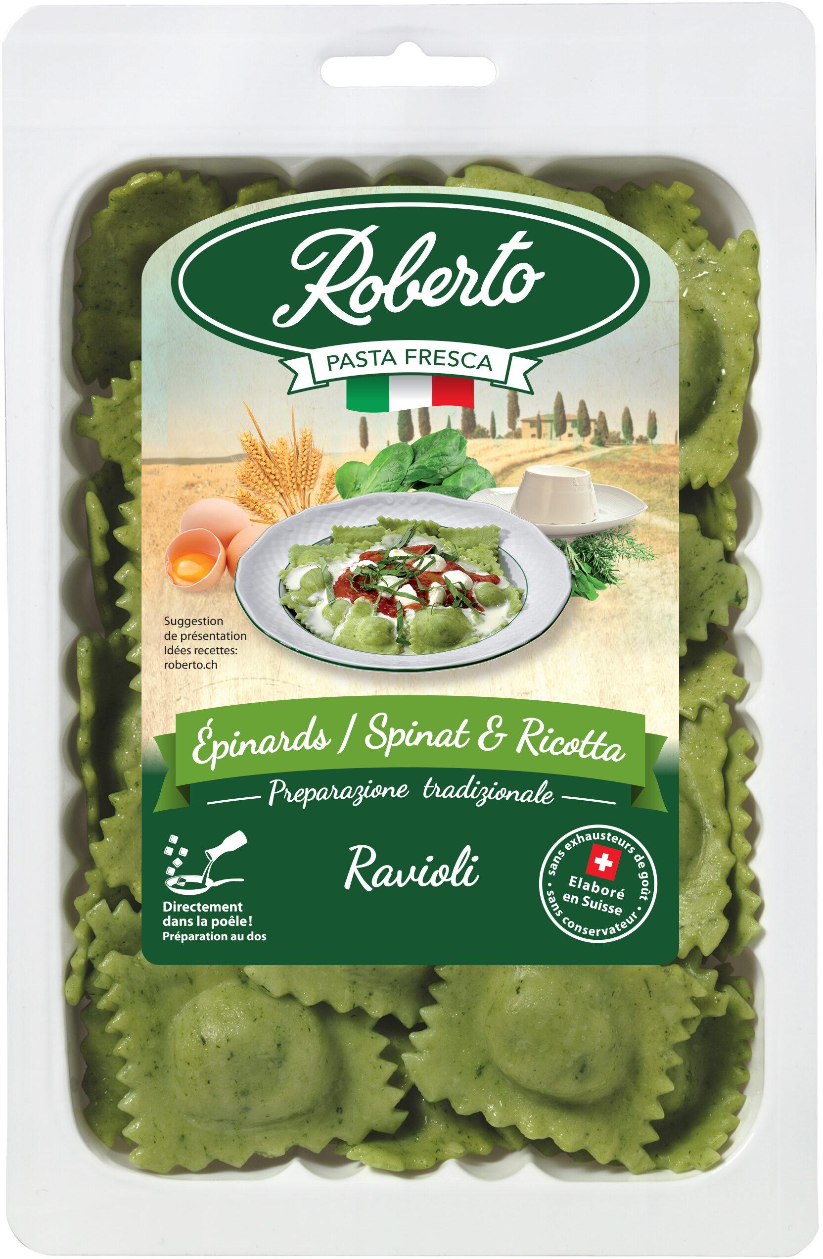 Ravioli frais épinards et ricotta - Produit - fr