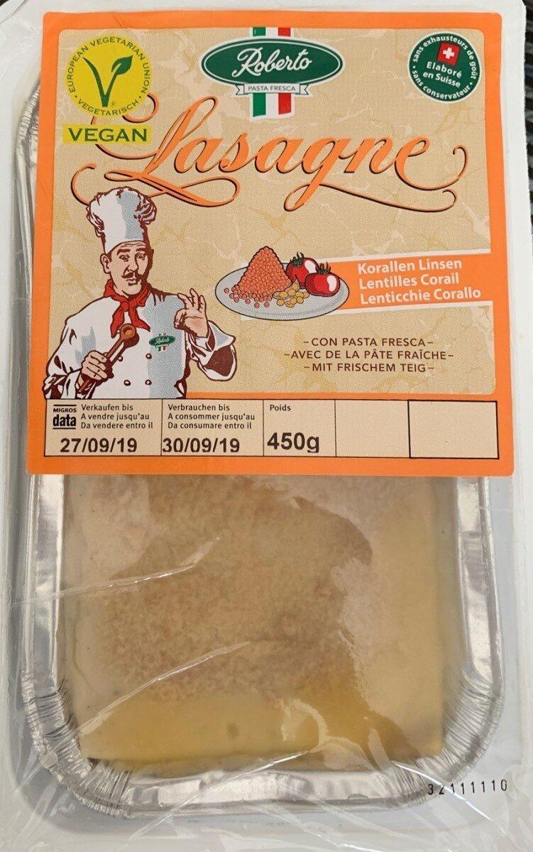 Lasagne frais lentilles corail (Végan,CH) - Produit - fr