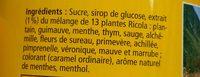 Bonbon aux plantes - Ingrédients - fr