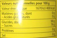 Bonbon aux plantes - Informations nutritionnelles - fr