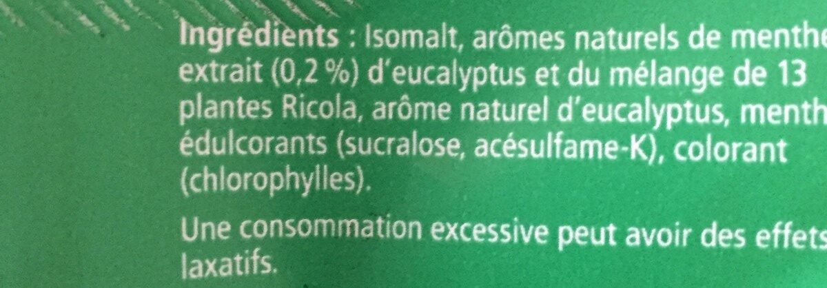 Eucalyptus - Ingrédients
