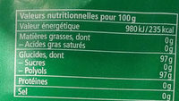 Eucalyptus - Informations nutritionnelles
