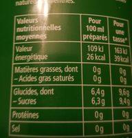 Infuselle aux 5 plantes - Nutrition facts