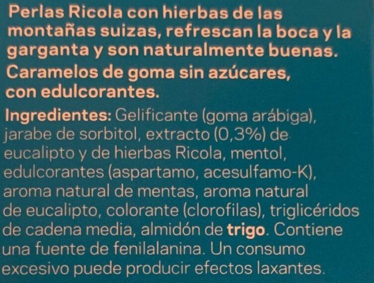Perlas de hierbas mentol eucalipto - Ingredients - es