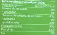Ricola Perlas De Hierbas Suizas Sabor Menta, 25GRS - Informations nutritionnelles - es