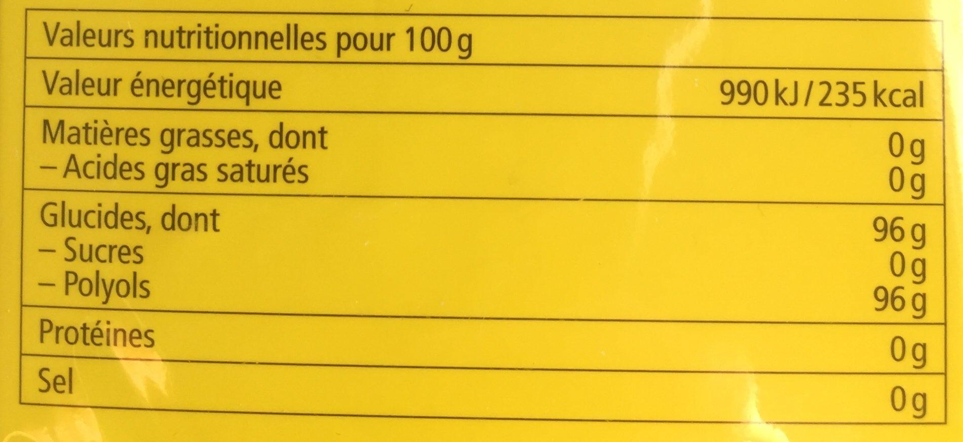 Ricola citron melisse - Nutrition facts