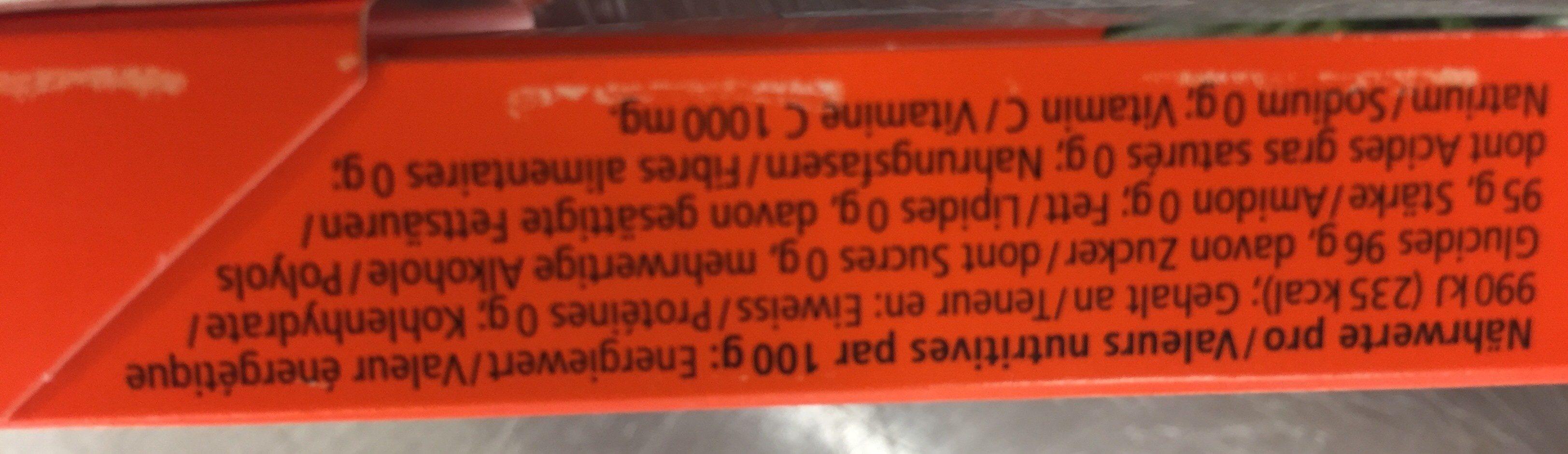 orange menthe ricola calories valeurs nutritionnelles et avis de consommation. Black Bedroom Furniture Sets. Home Design Ideas