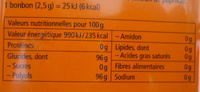Orange-menthe - Nutrition facts