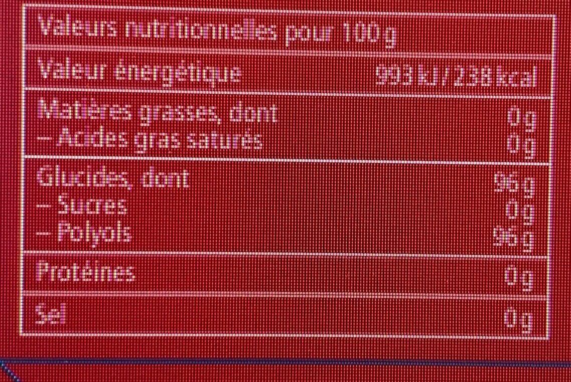 Ricola Cranberry Bonbons suisses aux plantes - Informação nutricional - fr