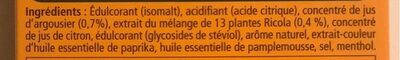 ricola argousier - Ingrédients - fr