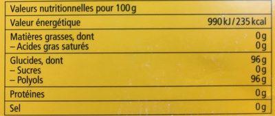 Ricola Argousier - Nutrition facts