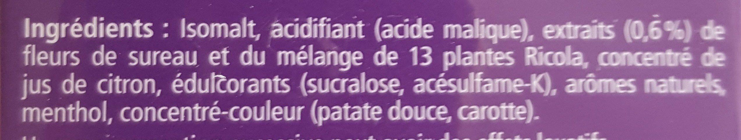 Bonbons Fleurs de sureau - Ingrédients