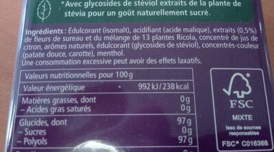 Bonbons Fleurs de sureau - Ingrédients - fr