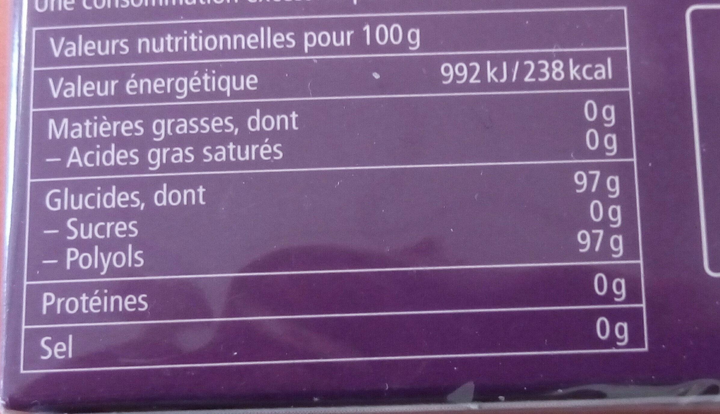 Bonbons Fleurs de sureau - Informations nutritionnelles - fr