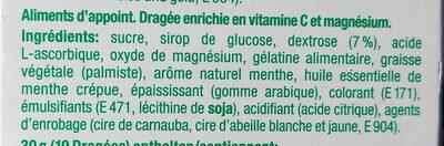 Sportmint Spearmint Kaudragées Box 48 g - Ingredients