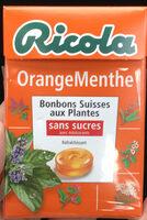 Orange Menthe sans sucres avec édulcorant provenant de la stévia - Product
