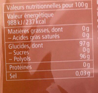 Orange Menthe sans sucres avec édulcorant provenant de la stévia - Voedingswaarden