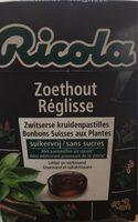 Ricola Zoethout SV In Box 50G - Produit