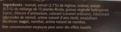 Ricola Zoethout SV In Box 50G - Ingrédients