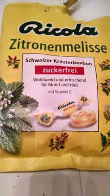 Ricola Zitronenmelisse - Produit - de