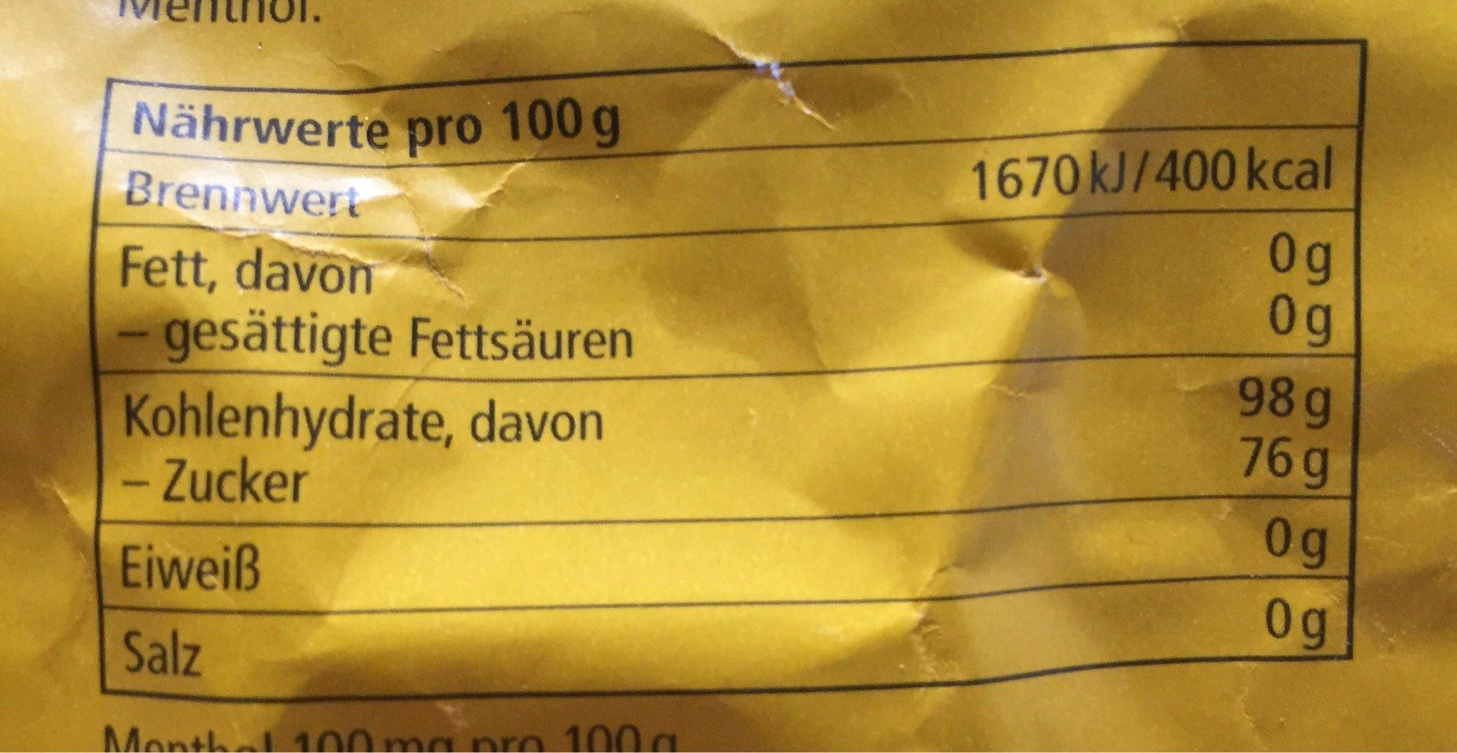 Ricola Schweizer Kräuterzuckerl - Nutrition facts - de