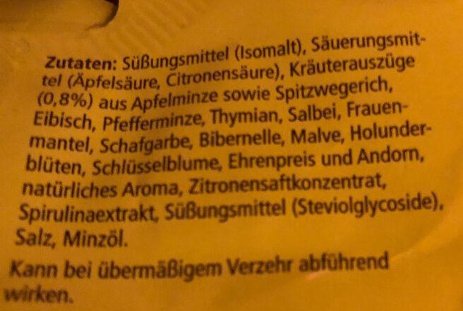 Ricola Apfelminze Kräuterbonbon - Ingredients - de