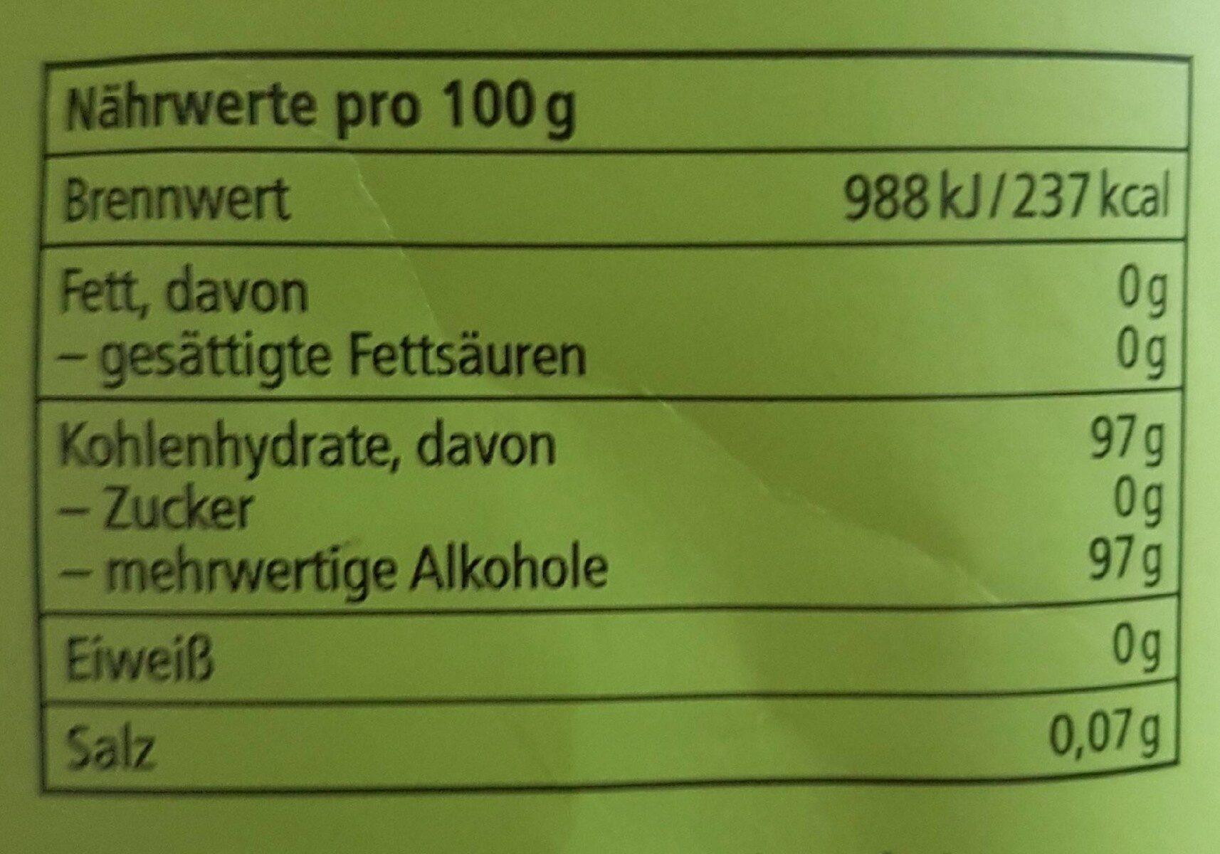 Ricola Apfelminze Kräuterbonbon - Nutrition facts - de