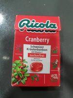 Ricola Cranberry Zuckerfrei Box - Product