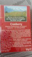 Ricola Cranberry Zuckerfrei Box - Ingrediënten