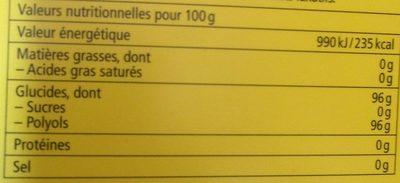 aux Plantes Citron - Mélisse - Voedigswaarden