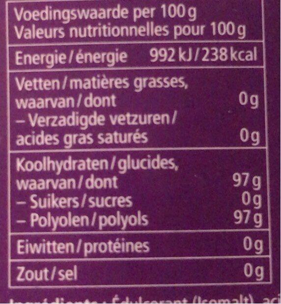 Bonbons Fleurs de sureau - 营养成分 - nl