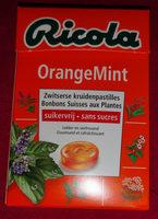 Ricola Orange Mint S. S. En Box 20X50G - Product