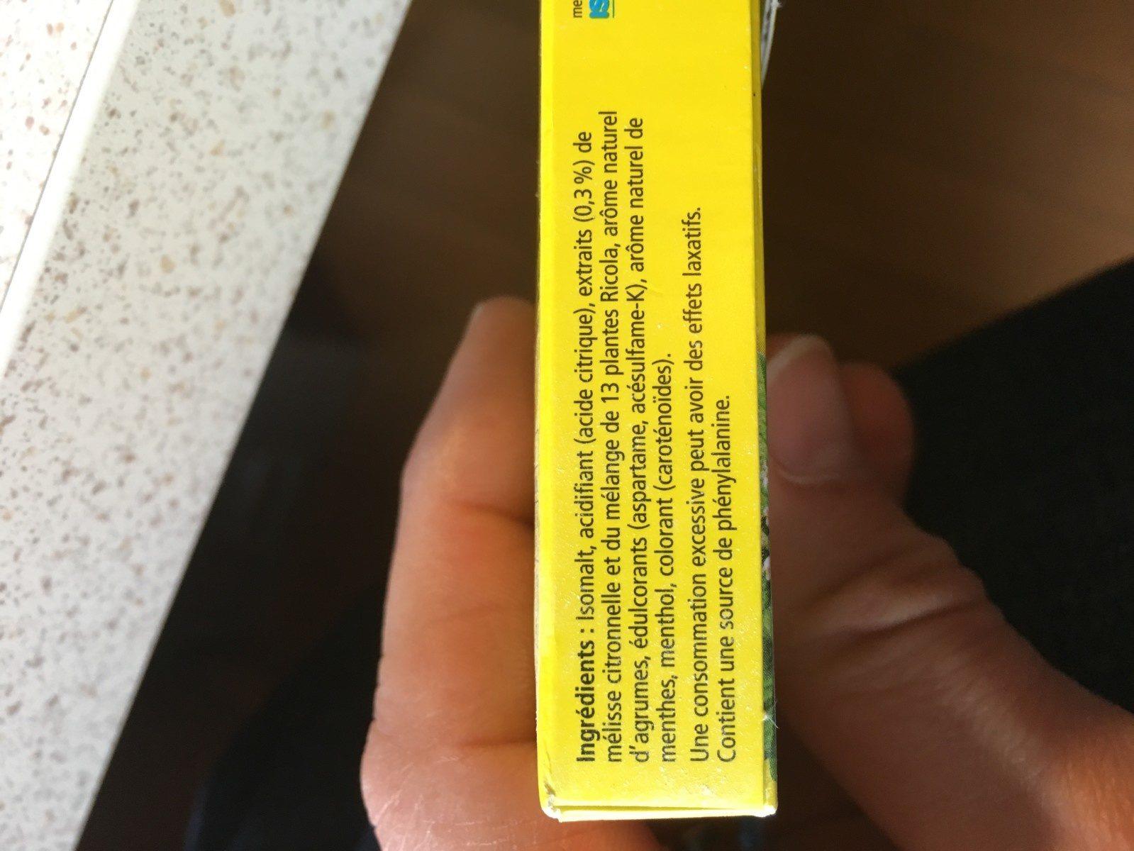 Lemon Mint - Ingredients - fr