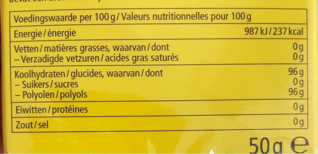 Lemon Mint - Nutrition facts - fr