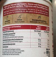 Bouillon bœuf - Informations nutritionnelles - fr